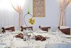 Luksusowy ślubu stół Zdjęcie Stock
