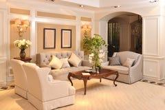 Luksusowy żywy izbowy urządzenie domu fitment meble dopasowanie obrazy stock