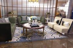 Luksusowy żywy izbowy urządzenie domu fitment meble dopasowanie zdjęcie royalty free