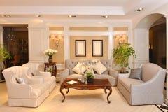 Luksusowy żywy izbowy urządzenie meble dopasowanie obraz royalty free