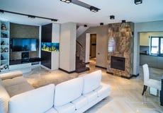 Luksusowy żywy izbowy wnętrze Fotografia Stock