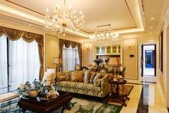 Luksusowy żywy pokój obrazy royalty free