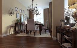 Luksusowy żywy pokój, jadalnia, art deco styl Zdjęcie Royalty Free