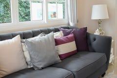 Luksusowy żywy pokój z klasyczną kanapą Zdjęcie Stock