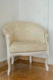 Luksusowy biały antykwarski krzesło Zdjęcia Royalty Free