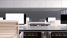 Luksusowy biurowy wewnętrzny projekt, 3D rendering Zdjęcie Stock
