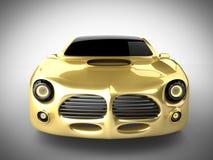Luksusowy brandless sportowy samochód na białym tle Obrazy Stock