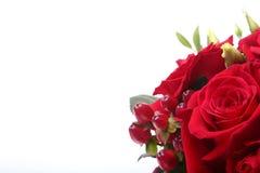 Luksusowy bukiet robić czerwone i białe róże na białym tle Dekoracja dla świętowania Fotografia Stock