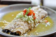 Luksusowy Burrito lub tłamszący burrito Obraz Royalty Free