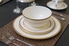 Luksusowy ceramiczny tableware zdjęcie royalty free