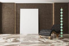 Luksusowy ciemny żywy pokój, karło, plakat ilustracja wektor