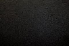 Luksusowy Czarny Rzemienny tekstury tło obrazy royalty free