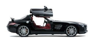 Luksusowy czarny samochodowy boczny widok Fotografia Royalty Free