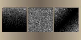 Luksusowy czerni pokrywy set z Błyszczącą błyskotliwością obraz stock