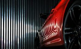 Luksusowy czerwony samochodowy widok Obraz Royalty Free
