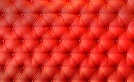 Luksusowy czerwony skóry poduszki zakończenia tło zdjęcie royalty free