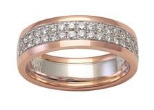 Luksusowy diamentowy pierścionek fotografia stock