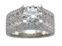 Luksusowy diamentowy pierścionek obraz royalty free