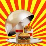 Luksusowy fasta food posiłek Zdjęcie Royalty Free