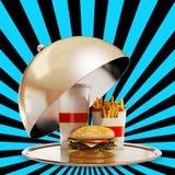 Luksusowy fasta food posiłek Obraz Stock