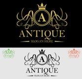 Luksusowy grzebienia logo Zdjęcia Royalty Free