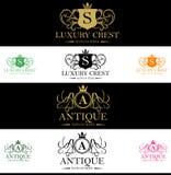 Luksusowy grzebienia logo Fotografia Royalty Free