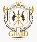 Luksusowy heraldyczny wektorowy emblemata szablon Wektorowy blazon royalty ilustracja
