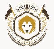 Luksusowy heraldyczny wektorowy emblemata szablon Wektorowy blazon ilustracja wektor