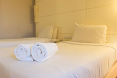 Luksusowy Hotel sypialnia Fotografia Royalty Free