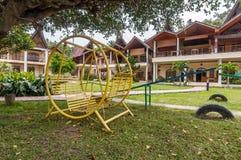 Luksusowy i Piękny powierzchowność ogródu willi brzeg jeziora Zdjęcie Stock