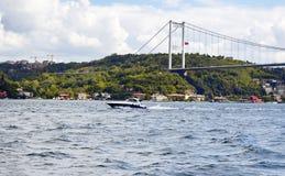 Luksusowy jacht, łódź/krzyżujemy Bosphorus Zdjęcie Stock