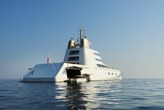Luksusowy jacht A Zdjęcia Royalty Free