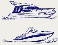 Luksusowy jacht royalty ilustracja