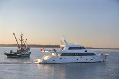Luksusowy jacht, Fraser rzeka Obraz Stock