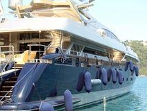 Luksusowy jacht, Skiathos miasteczko, Grecja Fotografia Royalty Free