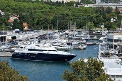 Luksusowy jacht w schronieniu Zadar, Chorwacja Obraz Royalty Free