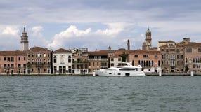 Luksusowy jacht w Wenecja. Włochy Zdjęcia Stock
