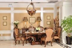 Luksusowy jadalni urządzenia domu fitment meble dopasowanie obraz royalty free