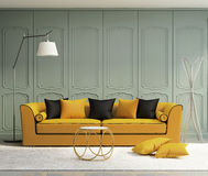 Luksusowy jasnozielony żywy pokój