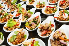 Luksusowy jedzenie i napoje na ślubie Fotografia Royalty Free
