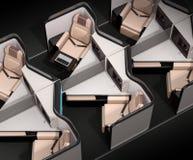 Luksusowy klasa business apartamentów układ na czarnym tle royalty ilustracja