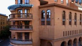 Luksusowy kompleks apartamentów w Yerevan, Armeńska nieruchomość dla czynszu, widok z lotu ptaka fotografia royalty free