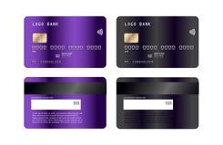 Luksusowy kredytowej karty szablonu projekt Z inspiracją od abstrakta również zwrócić corel ilustracji wektora Kredytowy karty de ilustracja wektor