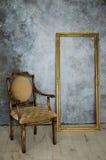 Luksusowy krzesło i rama Obrazy Stock