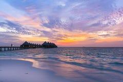 Luksusowy kurort Angaga Ari atol Zdjęcia Stock