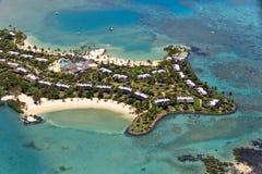 Luksusowy kurort w Mauritius, widok z lotu ptaka Zdjęcia Stock