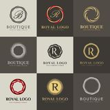 Luksusowy loga set, wektorowy loga szablon Obraz Royalty Free