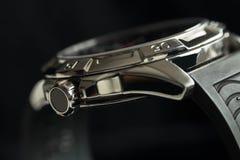 Luksusowy mężczyzna zegarka szczegół, chronografu zamknięty up Zdjęcia Royalty Free