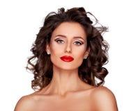 Luksusowy makeup i fryzura obraz royalty free