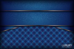 Luksusowy marynarki wojennej królewskiego błękita elegancki tło ilustracja wektor